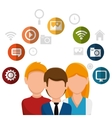 team social network people vector image