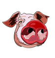 the image of the head of a pig the symbol of the vector image vector image
