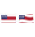 united states america flag simple and slightly vector image