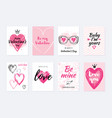 valentine s day card design set posters with vector image