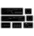 Video games guns icons vector image