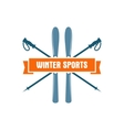 Winter sports Label Vintage Mountain explorer vector image