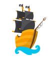 wooden pirate buccaneer filibuster corsair sea dog vector image vector image
