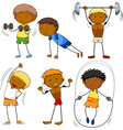Men doing different kinds of sports vector image