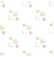 glasses with colored liquids seamless pattern vector image