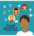 character man friendship social media vector image