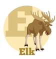 ABC Cartoon Elk vector image