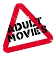 Adult Movies rubber stamp vector image