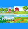 background scenes with vegetables on the farm vector image