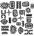 Background with African motifs over white vector image vector image