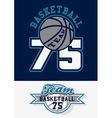 Basketball team print vector image vector image