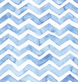 blue watercolor seamless pattern with zigzag vector image