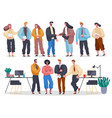 business people in office set workers vector image vector image