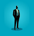 businessman in formal suit standing vector image vector image