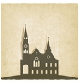 Catholic church old background vector image