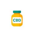 cbd oil bottle icon on white vector image