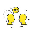 chat talking men icon design vector image