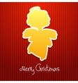christmas angel card2 vector image vector image