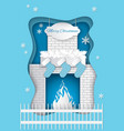 christmas fireplace with burning fire santa socks vector image vector image