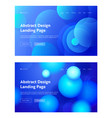 circle abstract shape landing page background set vector image