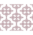 Classic abstract geometric floral pattern vector image vector image