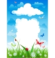 Cloudy house Environmental background vector image vector image