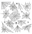 cobweb set spider web halloween black vector image