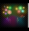 colorful festival fireworks banner for diwali or vector image