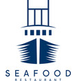 concept of seafood restaurant with ship vector image vector image