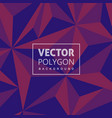 creative lowpoly background vector image