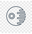 death star concept linear icon isolated on vector image