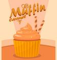 delicious cupcake cartoon vector image vector image