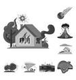 design of natural and disaster symbol set vector image