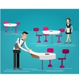 detailed character people in the restaurant vector image vector image