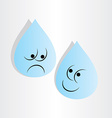 drops of water sad worry and happy vector image vector image