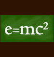 e mc2 blackboard background beautiful banner vector image vector image
