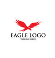 eagle logo designs simple elegant vector image