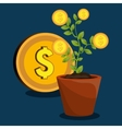economic growth design vector image vector image