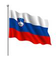 Flag of Slovenia vector image
