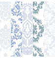 Floral damask ornament patterns set vector image vector image