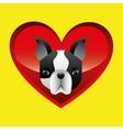 french bulldog face icon design vector image vector image