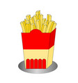 fresh fast food french fries icon vector image vector image