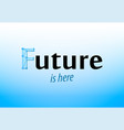 Future - caption on blue background banner in