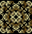 gold 3d baroque seamless pattern antique vector image vector image