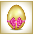 Golden Easter egg isolated vector image vector image