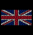 Great britain flag pattern of lier icons