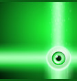 green background with eye and binary code vector image vector image