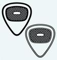 Guitar plectrum vector image