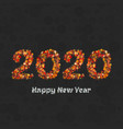 happy new year 2020 creative greeting card or logo vector image