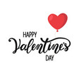 happy valentines day lettering and red balloon vector image vector image